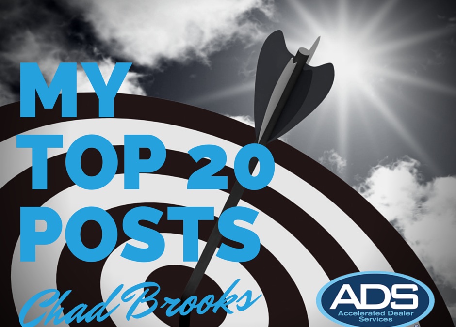 My Top 20 Posts in 2014 | ADS | Chad Brooks