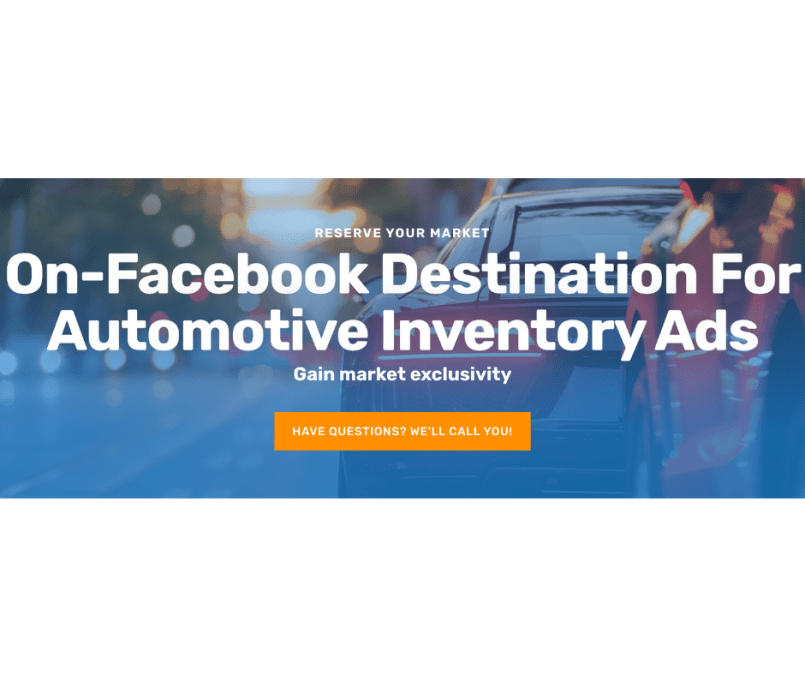 On-Facebook Destination Automotive Inventory Ads Will Help You Sell More Cars Every Single Month