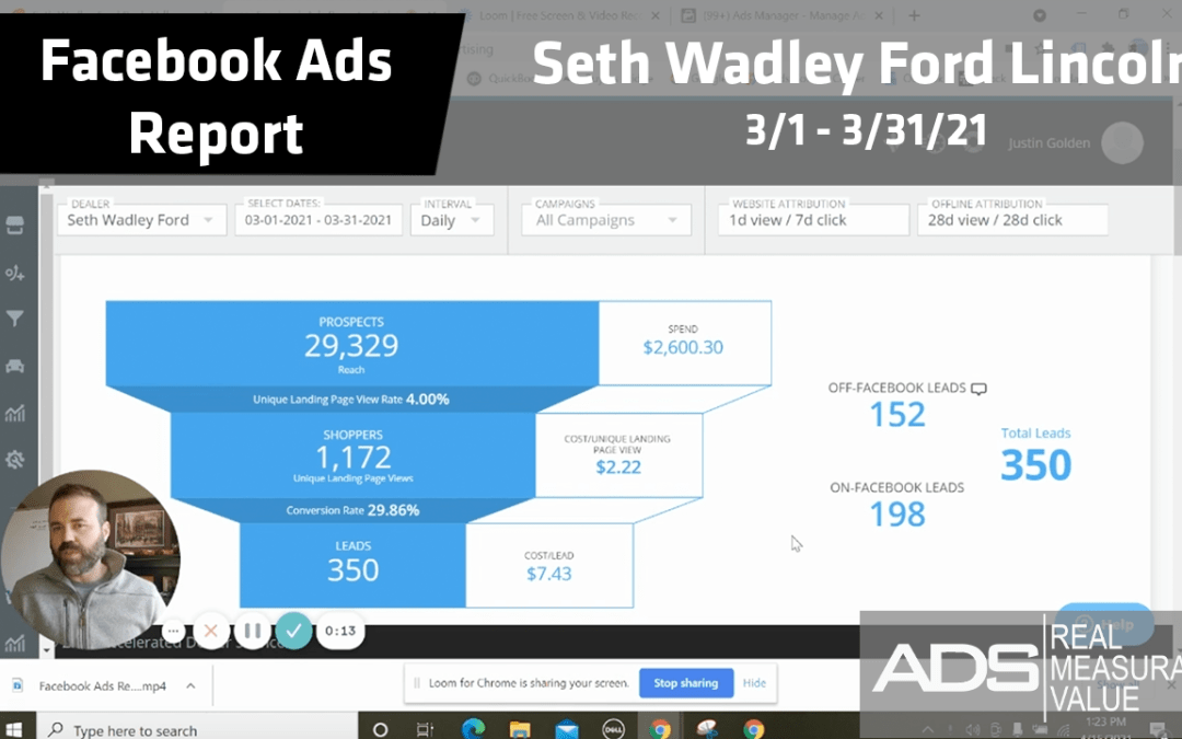 Facebook Ads Success for Seth Wadley Ford Lincoln – March 2021